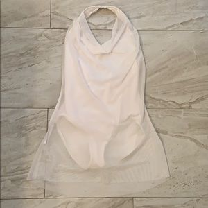 ☁️NEVER WORN Balera White Mesh Dance Dress Costume